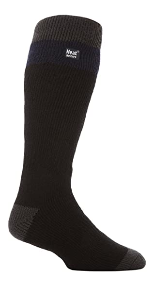 Heat Holders Mens No1 Thermal Socks Long Ski black/Navy 7-12 us