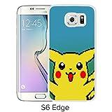 Fashion Designed Pokemon 18 White Samsung Galaxy S6 Edge Phone Case