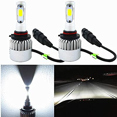 Alla Lighting 8000lm Xtremely Super Bright COB Xenon White High Power Mini LED Headlight Bulb Conversion Kits Lamps Replacement