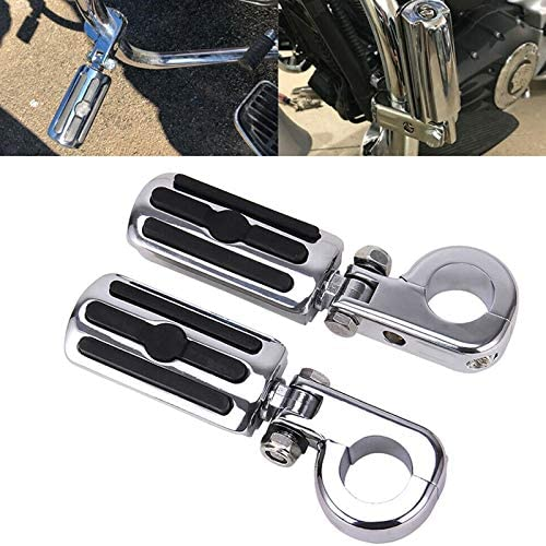 Xigeapg 1.25 inch Motorcycle Highway Foot Pegs Footrest for Touring Road King Glide