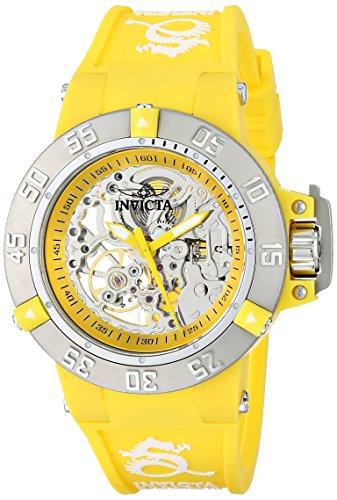 Invicta Women's 16780 Subaqua Analog Display Mechanical Hand Wind Yellow Watch (Invicta Subaqua Women Watches)