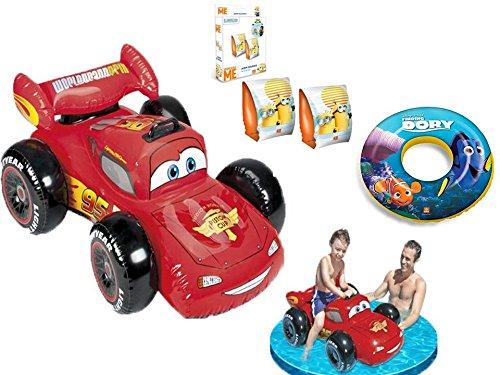Kit completo piscina para niños: 1 coche bâteau hinchable