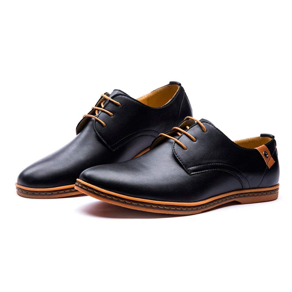 Británico Estilo Con Minetom De Vestir Planos Cuero Comodidad Zapatos Hombres Cordones Boda ER0q1WqaO