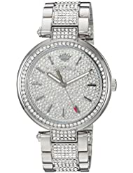 Juicy Couture Womens SIENNA Quartz Stainless Steel Dress Watch, Color:Silver-Toned (Model: 1901576)