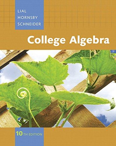 College Algebra, 10th Edition