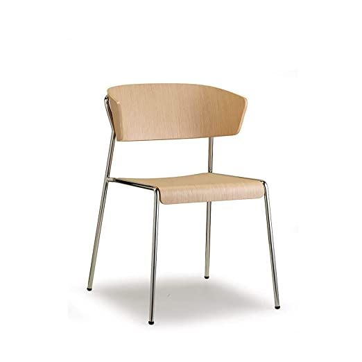 Scab Design Lisa Wood sillón Patas cromadas Asiento Roble ...