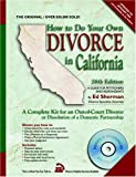 How to Do Your Own Divorce in California, Ed Sherman, 0944508529