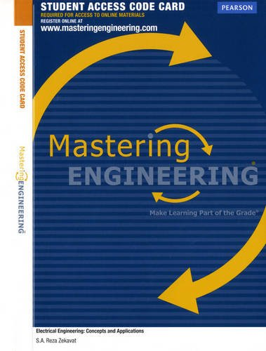 MasteringEngineering without Pearson etext -- Access Card -- for Electrical Engineering: Concepts and Applications