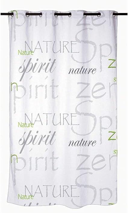 Trimming Shop Rideau de douche pour salle de bain 180 x 200 cm Gris Motif Premium Polyester R/ésistant aux moisissures et aux moisissures avec 12 crochets