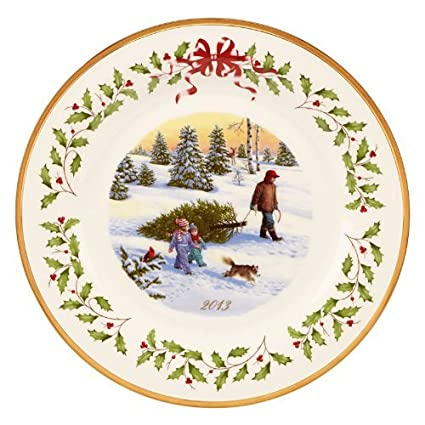 Lenox 2013 Annual Holiday Decorative Plate  sc 1 st  Amazon.com & Amazon.com: Lenox 2013 Annual Holiday Decorative Plate: Home u0026 Kitchen