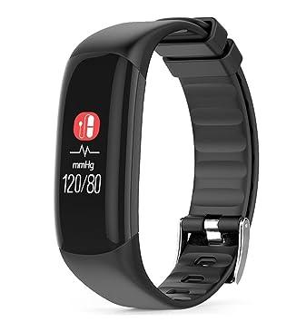 Fuibo Smart Watch, P7 Reloj de pulsera Tensiómetro de sangre Oxígeno Pulsómetro Smart Watch Reloj de pulsera Sport Fitness Tracker pulsera, ...