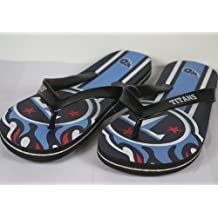Forever Collectibles Happy Feet Mens and Womens Officially Licensed Big Logo Flip Flops