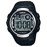 Lorus Gents Digital Black Strap Watch