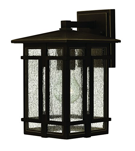 Hinkley 1960OZ Craftsman/Mission One Light Wall Mount from Tucker collection in Bronze/Darkfinish,