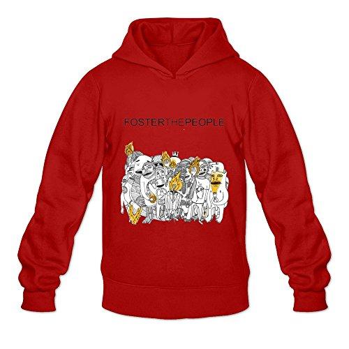 (Men's Foster The People Music Hoodies Sweatshirt Size S US Red)