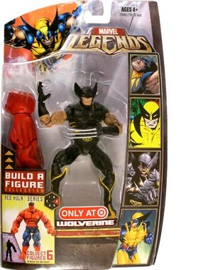 Marvel Legends Build A Figure Collection Red Hulk Series 6 Inch Tall Action Figure - Variant Wolverine in Black Costume Plus Red Hulk's Right Arm