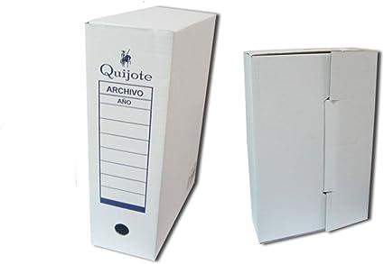 7380 - Pack de 5 cajasarchivo definitivo folio sencillo, especial para guardar documentos: Amazon.es: Oficina y papelería