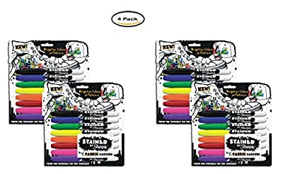 PACK OF 4 - Sharpie Stained Permanent Fabric Marker, Assorted, 8/Pack