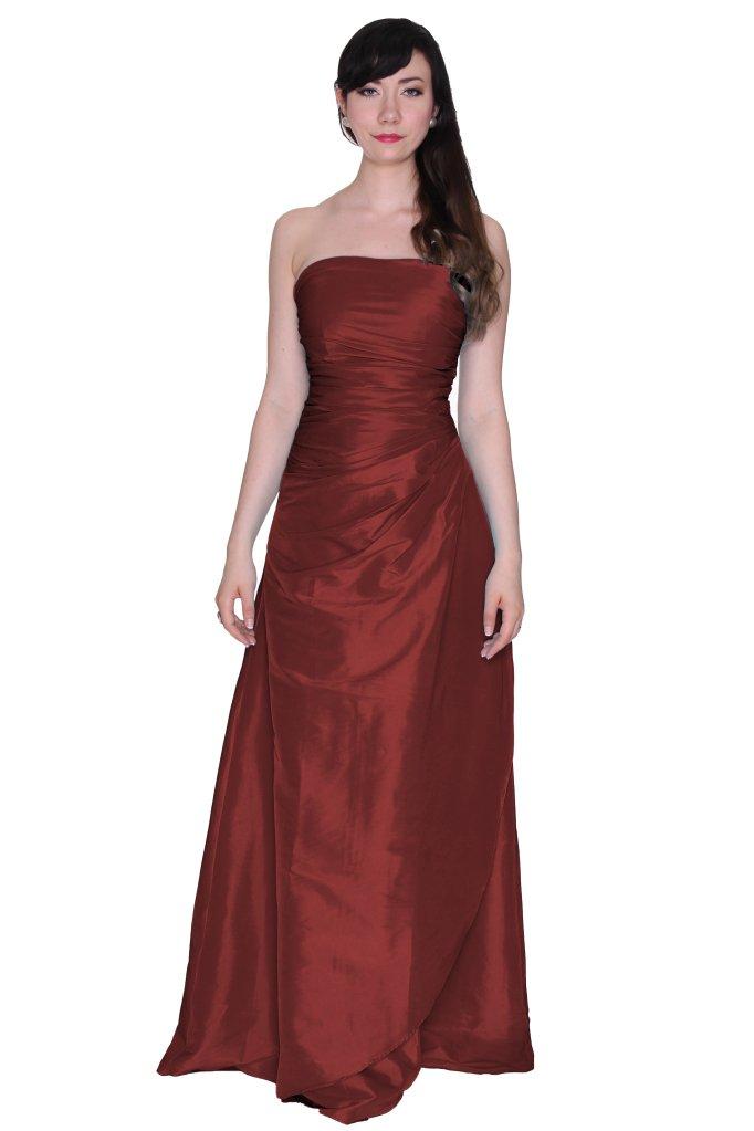 Beautifly Wedding Long Bridesmaid Taffeta Blue Strapless Women Dress
