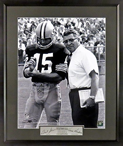 "Green Bay Packers Vince Lombardi & Bart Starr ""TITLETOWN U.S.A."" 16x20 Photograph (SGA Engraved Signature Series) Bart Starr Memorabilia"