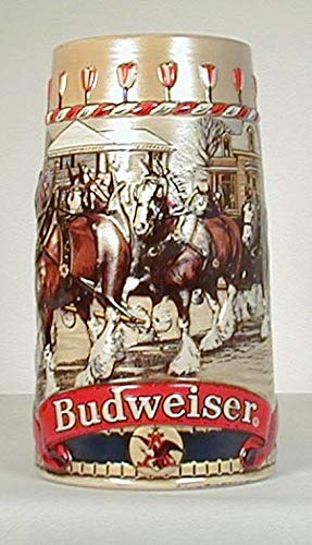 - 1986 Budweiser Holiday Stein - CLYDESDALE COLLECTION Series