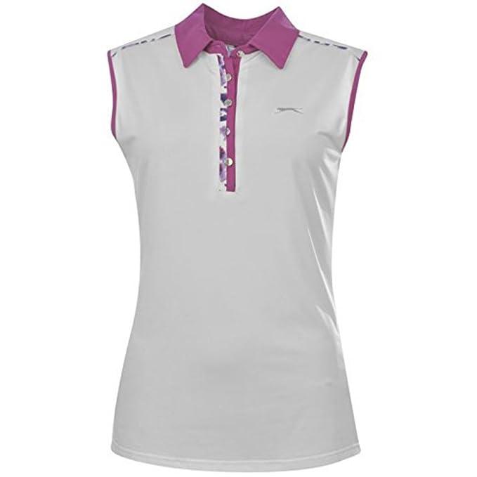 Slazenger Golf para mujer sin mangas Polo de manga corta traje de ...