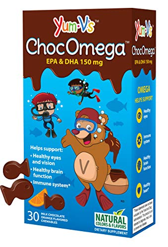 Yum-V s ChocOmega Milk Chocolate Orange Flavor Vitamin 30 Chewables