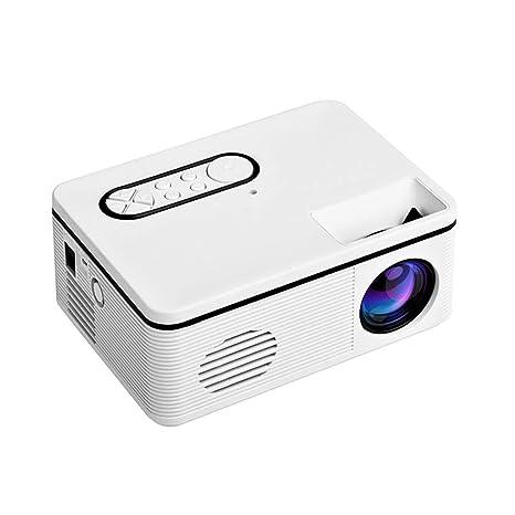 Yusell H88 - Mini proyector portátil (LED, 3D, 1080p, Altavoz, TF ...