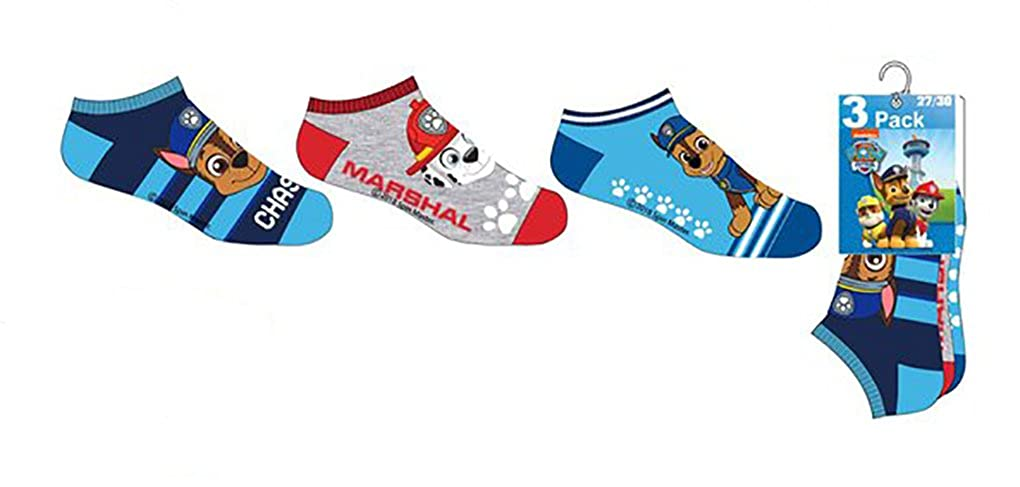 Kids Boys Paw Patrol ER0633 Ankle Socks 3 Pairs