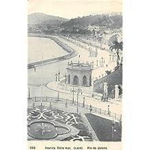 Rio de Janeiro Brazil Avenida Beira Mar Scenic View Antique Postcard J49190