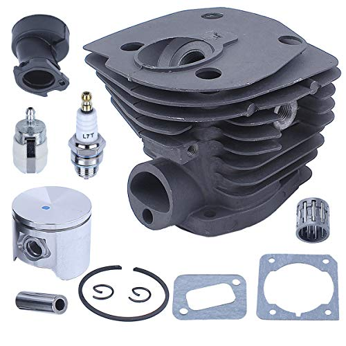Adefol Nikasil Plated Cylinder Piston Kit Fit Husqvarna 350 351 353 346XP (44mm) Chainsaw Intake Manifold Needle Bearing Spark