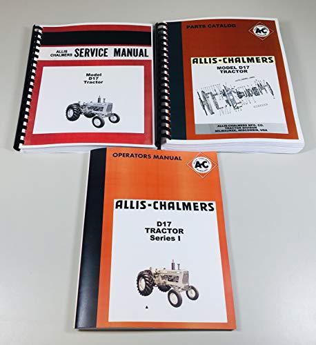 Set Allis Chalmers D-17 Tractor Service Parts Operators Manual Catalog Shop Ovhl
