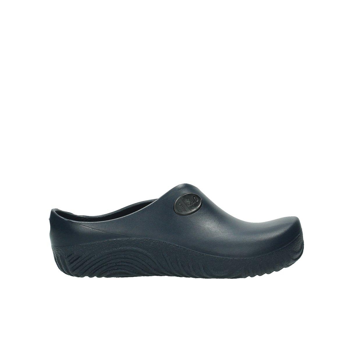 Wolky Zuecos Comfort 02550 OK Clog 44 EU 90800 Dark Blue Pu