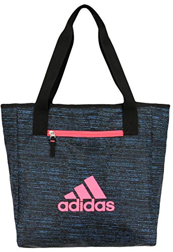 adidas Womens Studio II Tote, Bright Cyan Subdued/Black/Flash Red, ONE SIZE