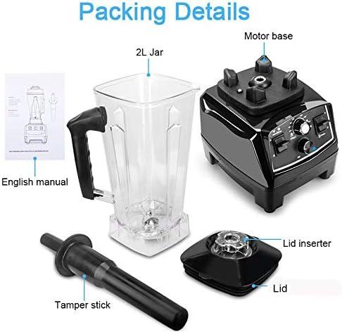 Ttdbd Blender Smoothie Maker, 10 Vitesses avec 33000 TR/Min Haute Vitesse, pour Glace/Noix/Soupe/Sauce, sans BPA