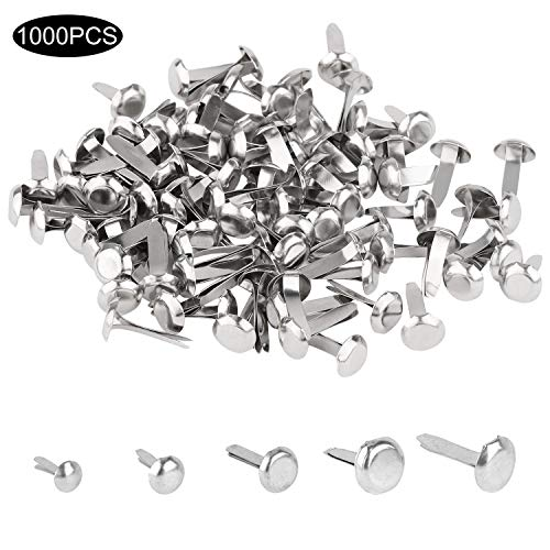 Metal Brads Scrapbooking (1000 Pcs Mini Brads with 5 Sizes Metal Brad Paper Fastener for Scrapbooking Craft DIY Making)