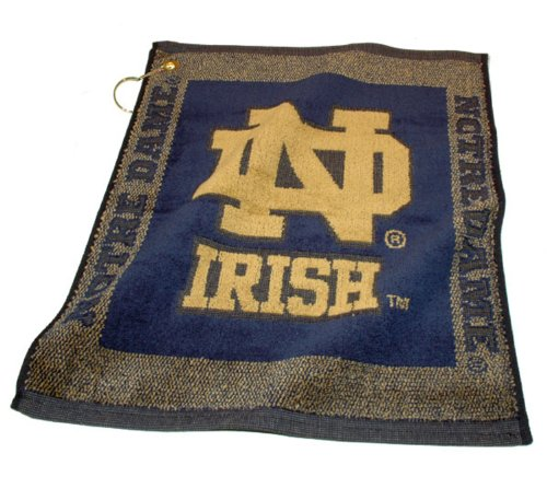 NCAA Notre Dame Fighting Irish Jacquard Woven Golf (Irish Golf Towel)
