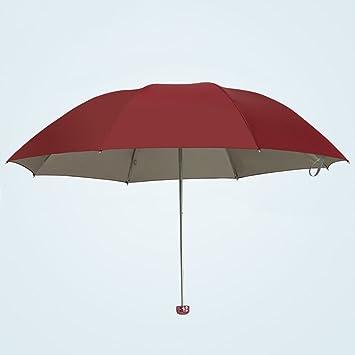 Sombrilla Paraguas Triple Plegable Protección UV Paraguas (7 Colores, 2 Tamaños Disponibles) ZHAOYONGLI