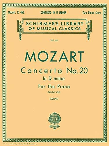 Concerto No. 20 in D Minor for the Piano (Schirmer's Library of Musical Classics, Vol. 661) (Concerto No 2 Violin Mozart)
