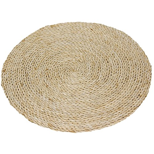 Oriental Furniture 2 ft. Woven Maize Area Rug - Natural (Vinyl Woven Rugs Area)