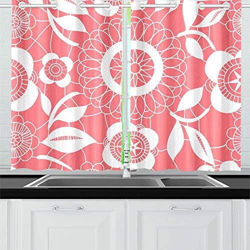 VvxXvx Pink and White Floral Crochet Lacy Seamless Patter Ki
