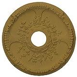 Ekena Millwork CM18SEGLS Antioch Ceiling Medallion, 18'' OD x 3 1/2'' ID x 1 3/8'' P, Gold