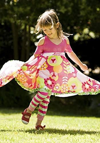 TwirlyGirl Cute Leggings for Girls Pink Colorful Stars Spring Summer Short Pant