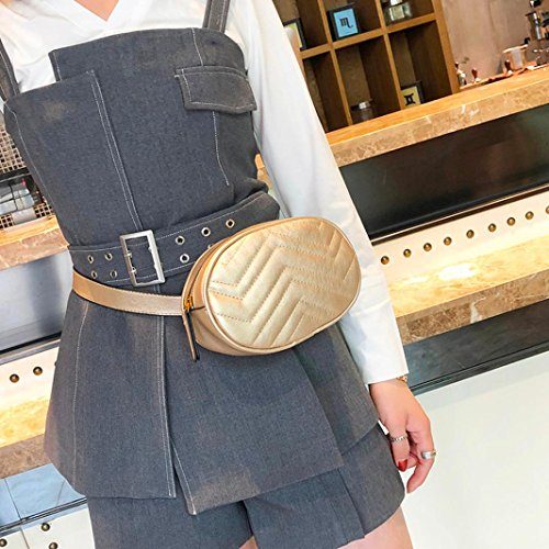 Shoulder Pure Chest Bag Fashion Travel Messenger Women Color Portable Leather Gold Bag Casual Daypacks qgXqZw5