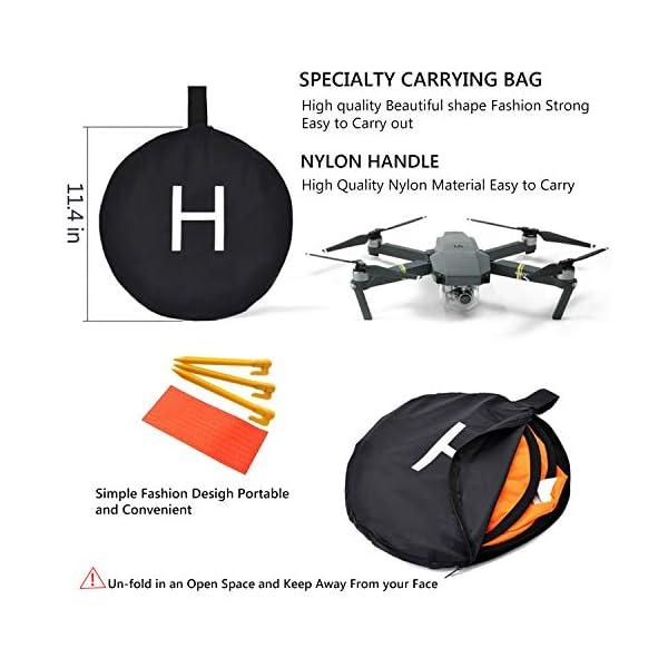 WisFox Drone Landing Pad Impermeabile 75cm Atterraggio Pieghevole Portatile per Elicotteri RC Drone 4 spesavip