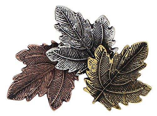 Silver Maple Leaf Pin - RoseSummer Women Jewelry Vintage Brooch Gold/Silver Plated Maple Leaf Pins