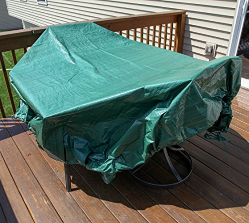Shefko 0-99393-10909-4 Yard Tarp 8.2 X 8.2 - Versatile Drawstring Tarp for Yard Clean Ups - Convenient and Handy - Formed Into an Instant Dragging Bag - Ideal as BBQ Grill and Outdoors Furniture Cover by Shefko (Image #6)