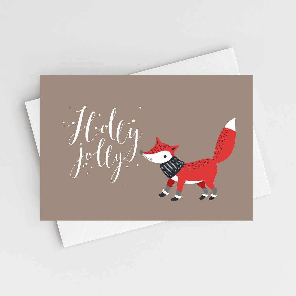 Amazon.com : Merry Christmas Cards Boxed Set In 36 Bulk Xmas Cards ...