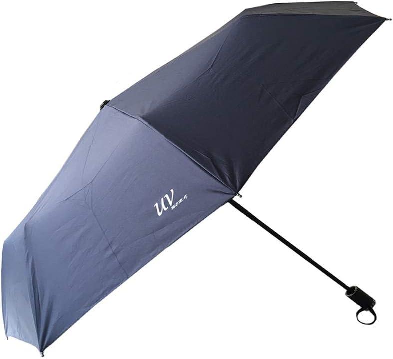 Bleu Ciel 8 squelettes de Parapluie Parapluie en Plastique Noir Mat de Haute qualit/é pour emp/êcher Les Rayons UV de p/én/étrer au-Dessus de 50 UPF Tinyuet Parapluie Pliant 38 inch