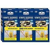 Member's Mark Commercial Disposable Latex-Free Vinyl Gloves (120 gloves, 3 pk.) x2 AS